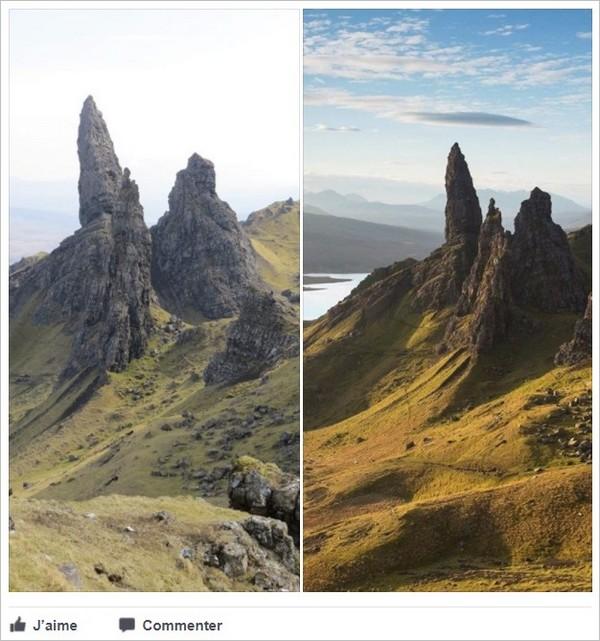 Facebook : affichage de 2 photos au format portrait
