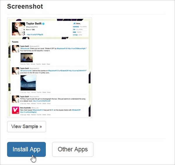 Ajouter une application Twitter sur Facebook