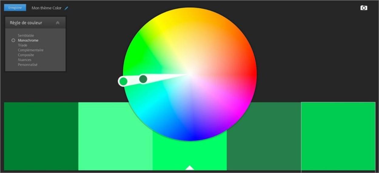 Adobe Color : palettes de couleurs