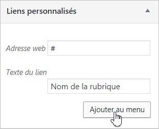 Lien non cliquable sur WordPress