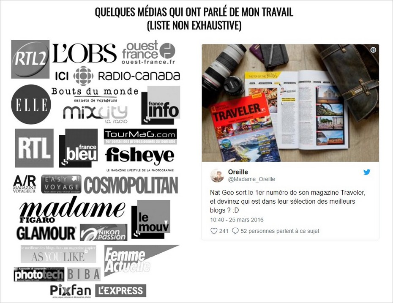 Madame Oreille - Page A propos