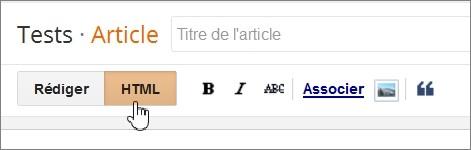 Rédaction en mode HTML sur Blogger