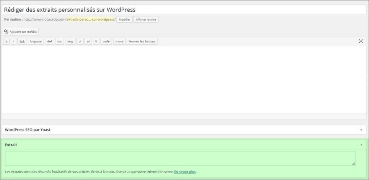 Résumé d'un article WordPress