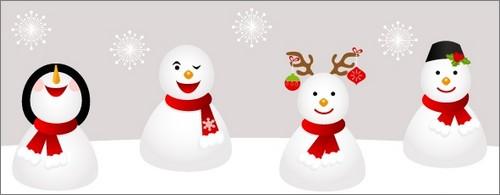 Icônes PNG gratuites représentant des bonhommes de neige