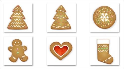Icônes Cookies de Noël