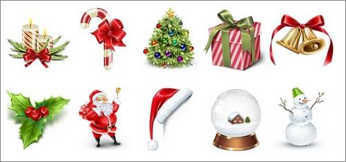 Icônes de Noël réalistes