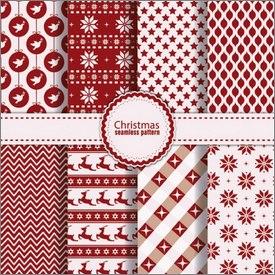 Motifs de Noël rouges et blancs en vectoriel