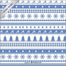 Motifs de Noël bleus et blancs en vectoriel