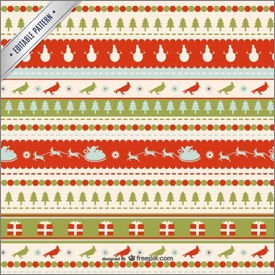 Motifs de Noël rouges et verts en vectoriel