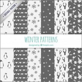 Motif hiver vectoriel