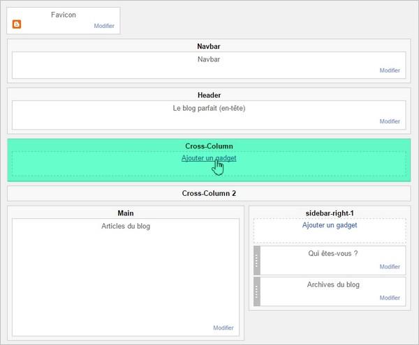 Créer un menu sur Blogger