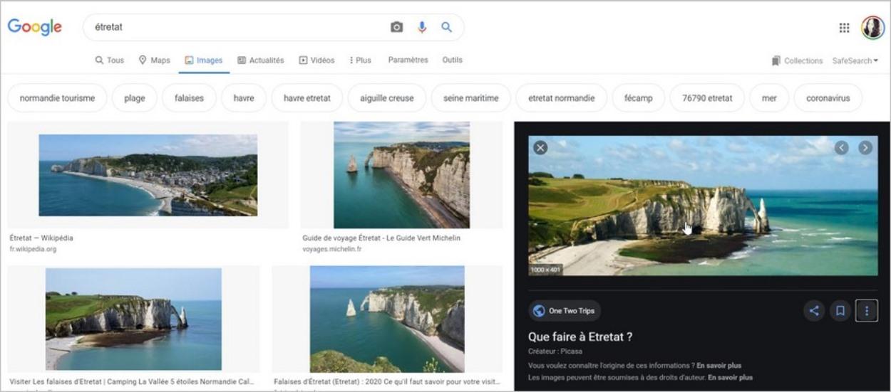 Google Images sans clic