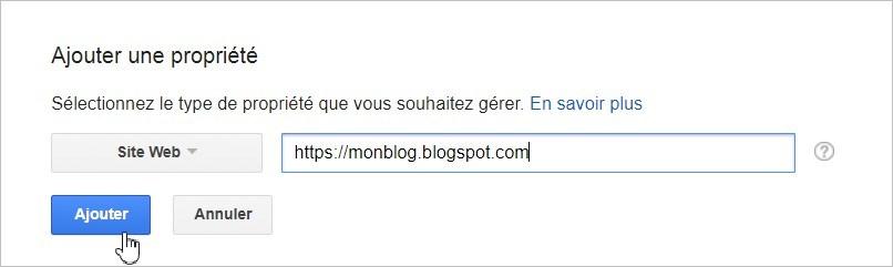 Ajouter un site à Google Search Console