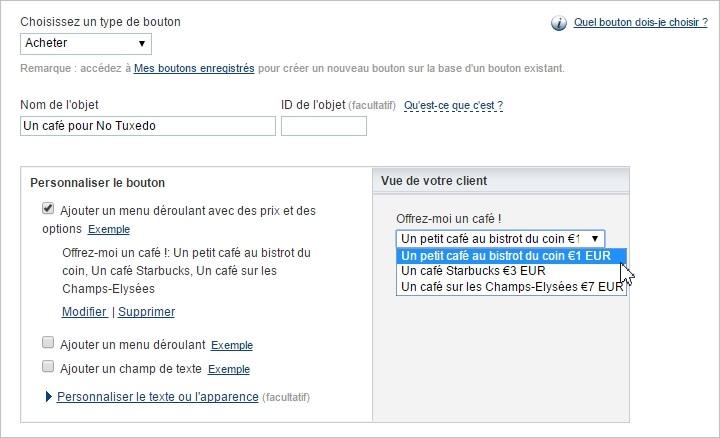 Bouton Acheter sur Paypal