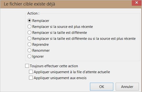 Remplacer des fichiers sur FileZilla