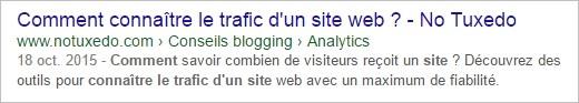 Affichage d'un article sur Google