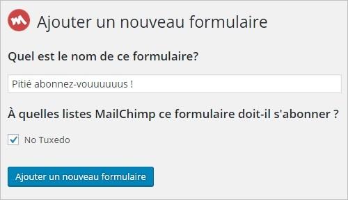 Créer un formulaire MailChimp sur WordPress