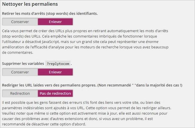 Réglage des permaliens sur Yoast SEO pour WordPress
