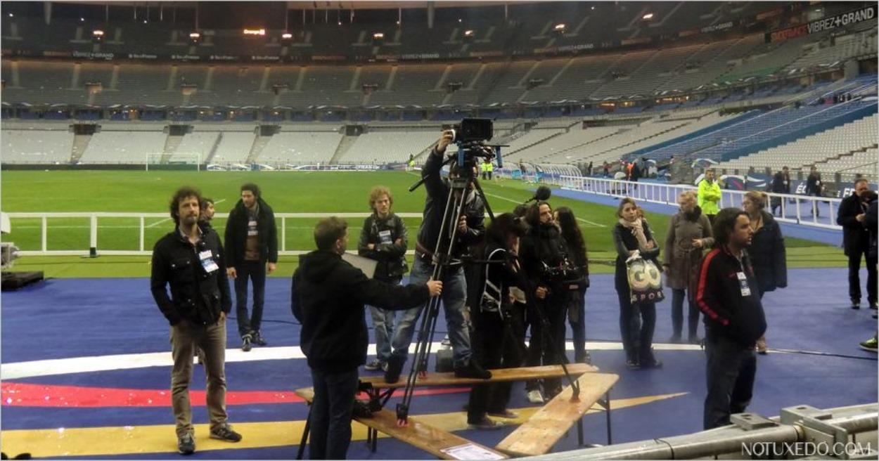 Tournage au Stade de France