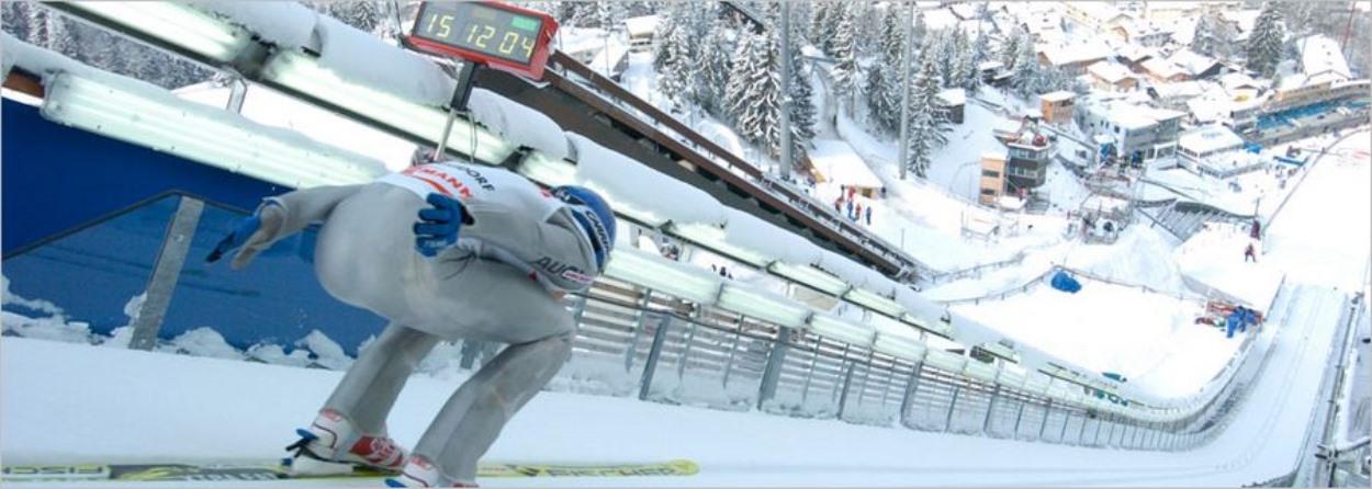 Rampe de saut à ski