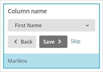 Colonne personnalisée MailChimp