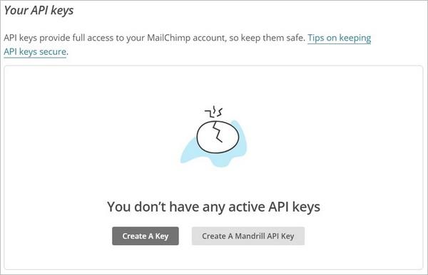 Créer une clé API MailChimp pour WordPress