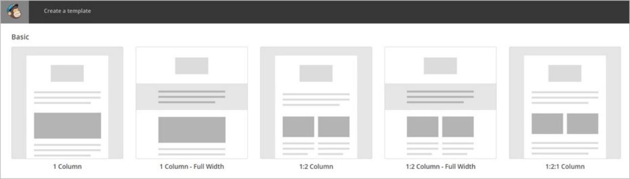 Mise en page d'un template MailChimp