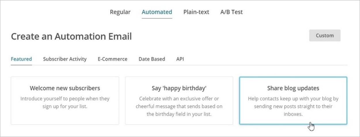 Newsletter automatique sur MailChimp