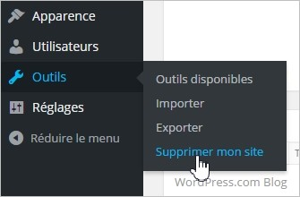 Supprimer un blog WordPress
