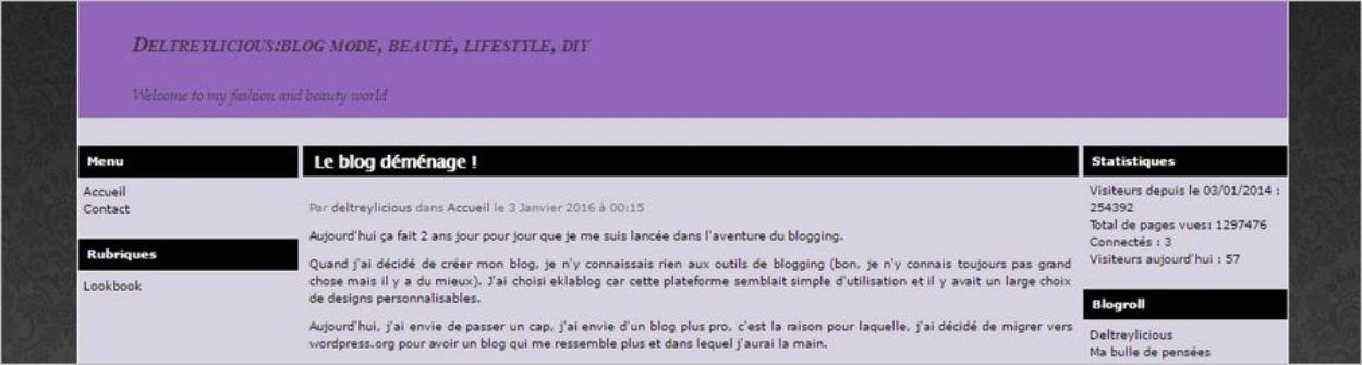 Deltreylicious - Le blog avant