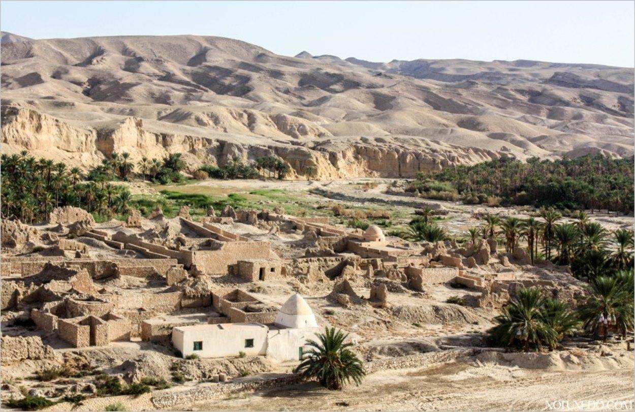 Le village abandonné de Tamerza en Tunisie