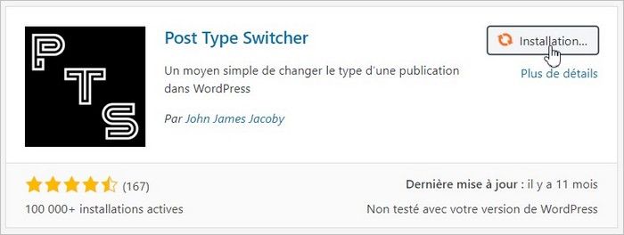 Plugin Post Type Switcher