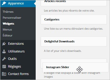 Instagram Slider Widget sur WordPress