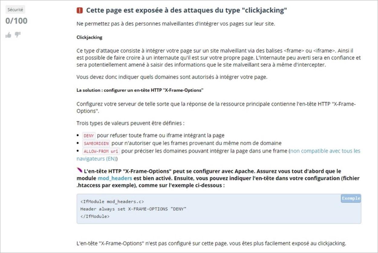 Analyse de sécurité web