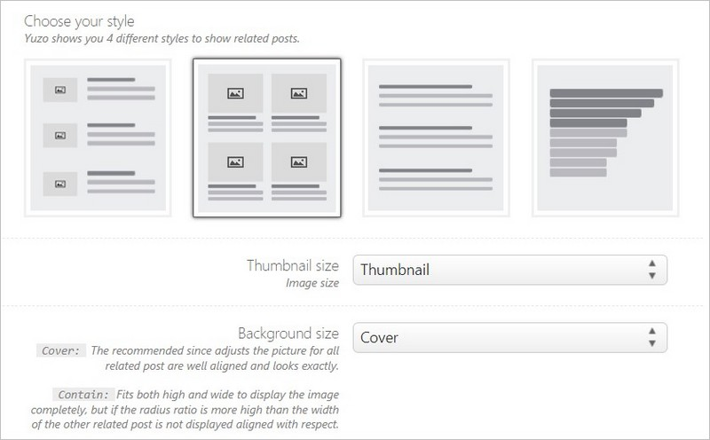 Options de design des articles similaires
