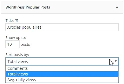 Widget articles populaires sur WordPress