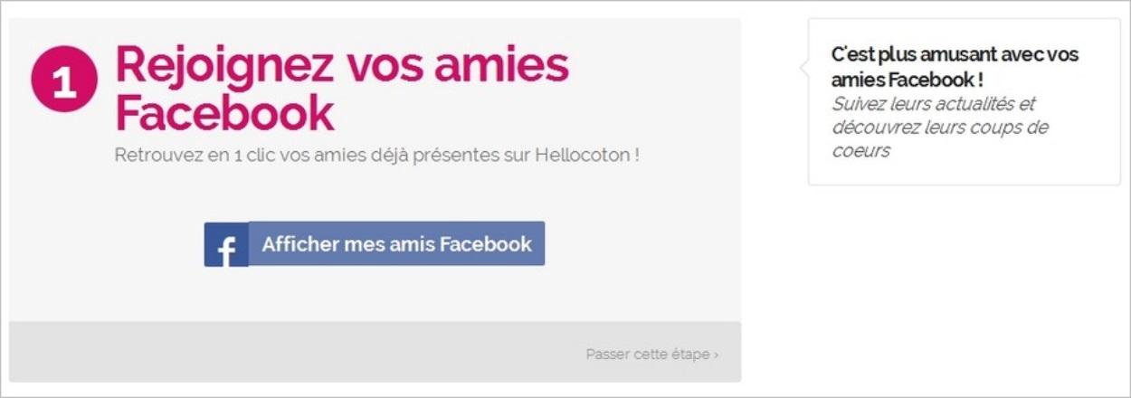 Retrouver ses amis Facebook sur Hellocoton