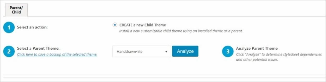 Child Theme Configurator – Analyse et configuration du thème enfant