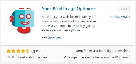 Installer Short Pixel Image Optimizer