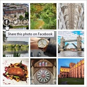Rendu du widget Instagram Grid de Snapwidget