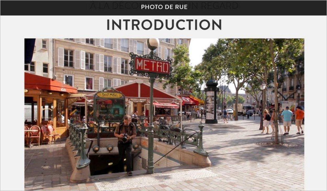 Introduction du cours de photo de rue