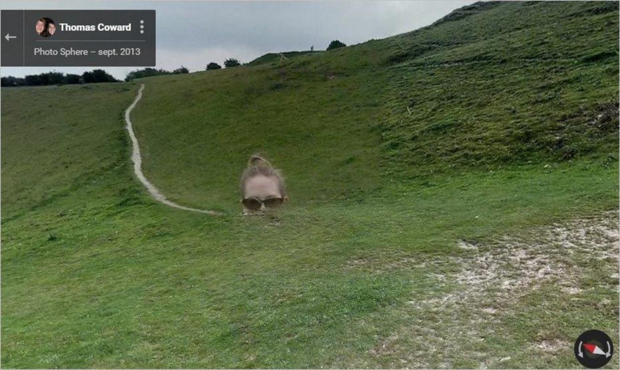 Tête coupée sur Google Street View