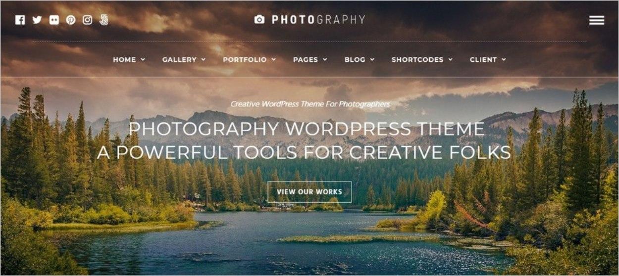 Le thème Photography pour WordPress