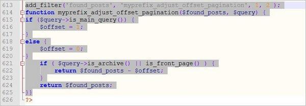 Insérer du code dans le fichier functions.php