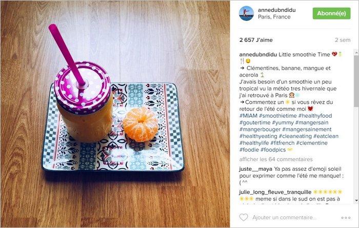 Une tranche de vie sur Instagram