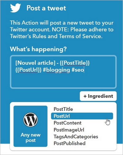 Tweeter un post WordPress