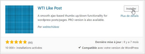 WTI Like Post sur WordPress