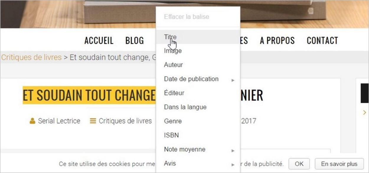 Baliser son contenu avec les outils pour les webmasters de Google