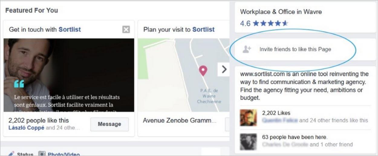 Inviter ses amis Facebook à aimer une page