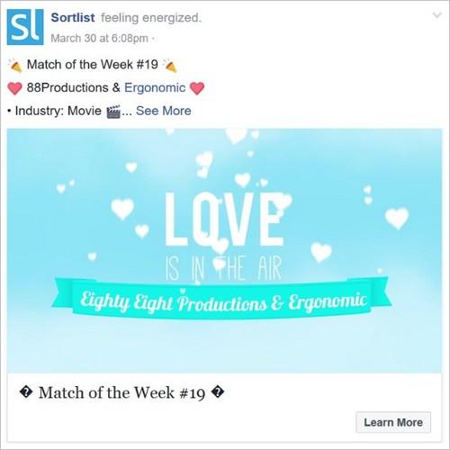 Une publication Facebook courte et efficace